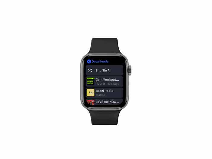 Pandora app for Apple Watch