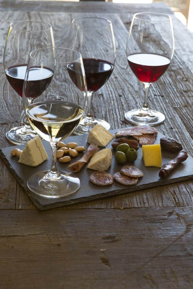 Wente Winery (Livermore) cheese board.