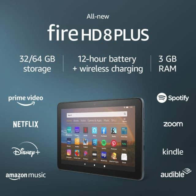 All-new Fire HD 8 Plus tablet, HD display, 64 GB, 8