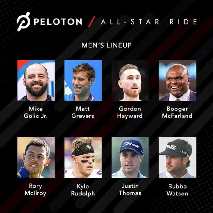 Get ready for our first-ever Peloton All-Star Ride! Golfers, Olympians, NCAA champions and more will battle it out on Saturday at 12 PM ET