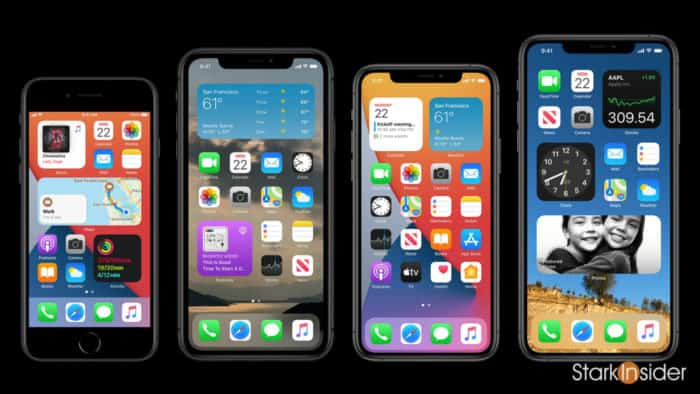 Apple WWDC iOS 14 home screen widget library examples