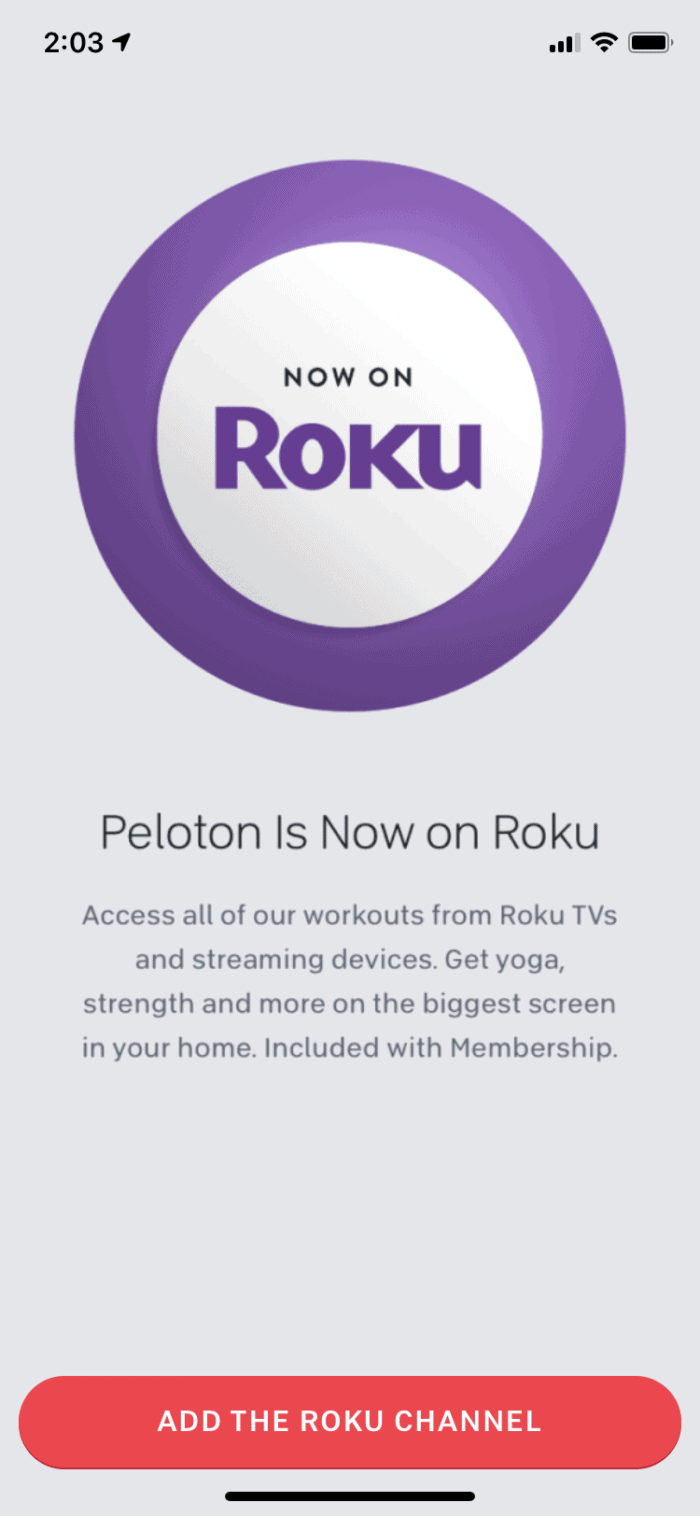 Peloton is now on Roku