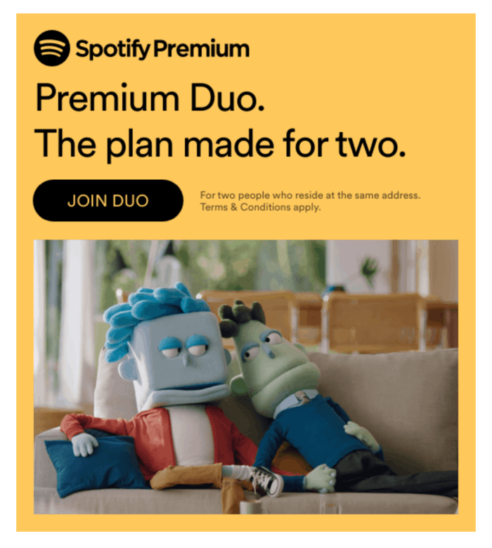 Spotify Premium Duo plan