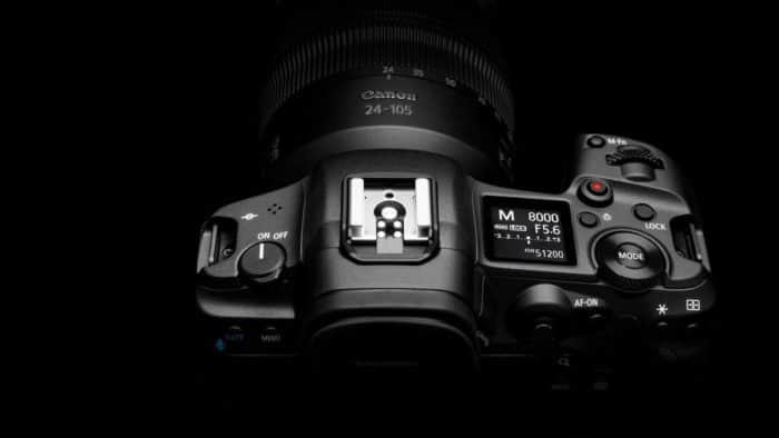 Canon EOS R5 top plate