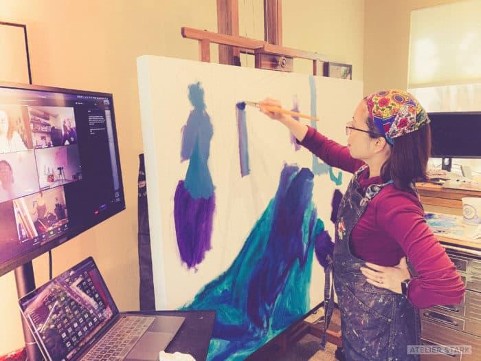 Loni Stark in Home Art Studio - Atelier Stark