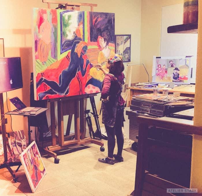 Loni Stark in Home Art Studio, California - Atelier Stark