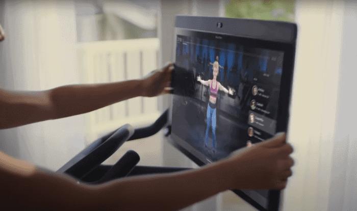 New Peloton Bike+ features rotating screen