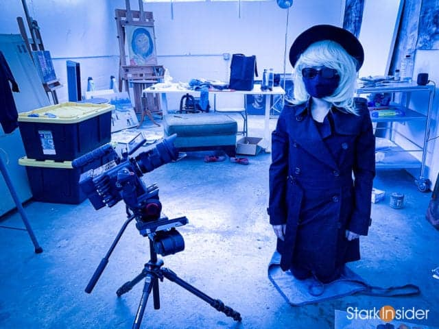 Loni Stark behind the scenes shooting 3 DAYS IN ICELAND with Clinton Stark