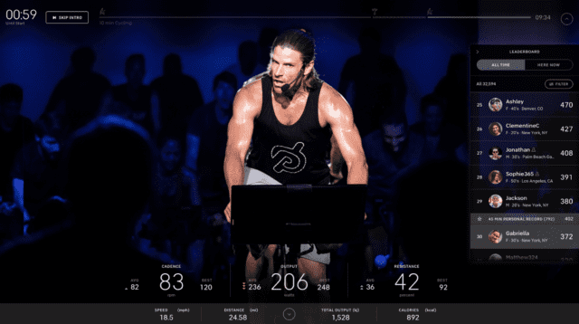 Peloton Skip Intro feature for Bike, Tread, Web