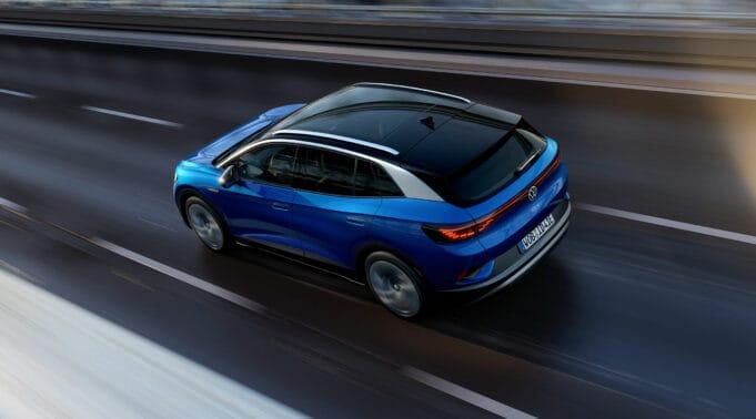 Volkswagen ID.4 ev Tesla branding