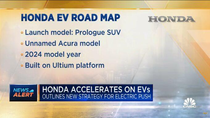 Honda EV road map - Prologue