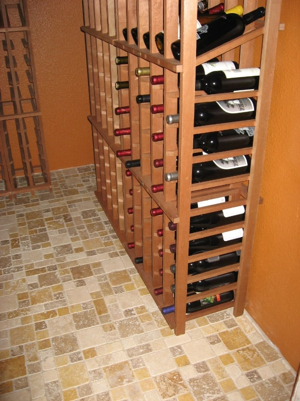 5 spring project ideas including at least 1 for the guys for Turn closet into wine cellar