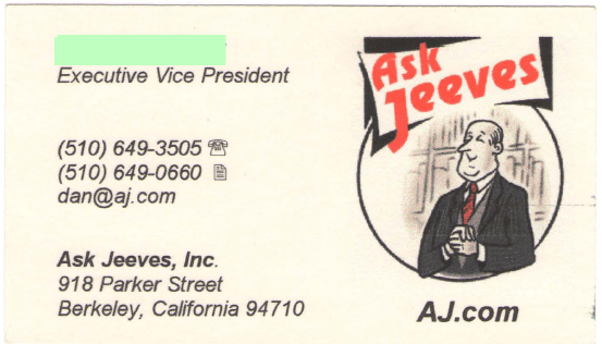 Askjeevesbusinescard