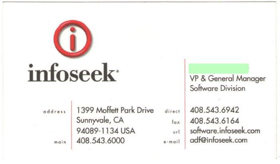 Infoseekbusinesscard