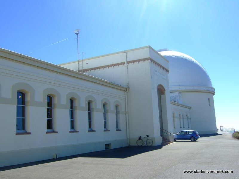 The facad of Lick Observatory is impressively classic