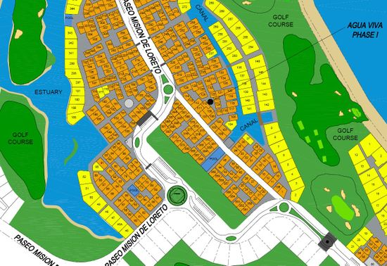 Loreto Bay Site Map Update November 2008 with Paseo Golf Course and Estuaries
