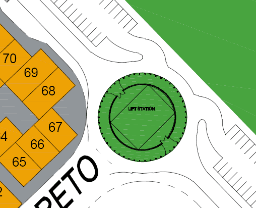 """Close up of the """"Life Station"""" in Agua Viva from the Loreto Bay site map November 2008"""