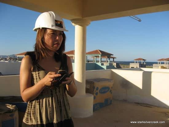 Loni Loreto BlackBerry from tower of Agua Viva AV25 in Loreto Bay