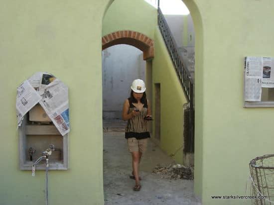 Loni Loreto BlackBerry inspecting site construction