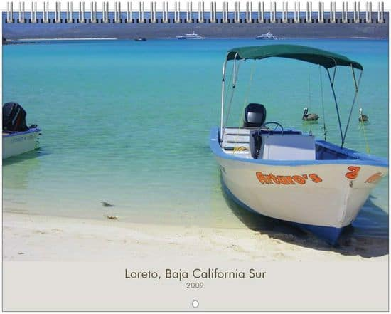 2009 Loreto Calendar featuring Loreto, Loreto Bay, Baja and the Sea of Cortez