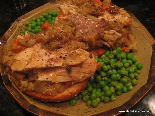 Open Face Turkey Sandwich 03
